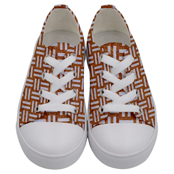WOVEN1 WHITE MARBLE & RUSTED METAL Kids  Low Top Canvas Sneakers