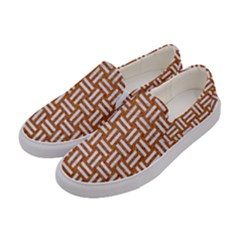 WOVEN1 WHITE MARBLE & RUSTED METAL Women s Canvas Slip Ons