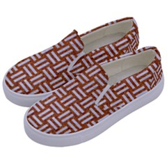 WOVEN1 WHITE MARBLE & RUSTED METAL Kids  Canvas Slip Ons