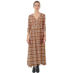 WOVEN1 WHITE MARBLE & RUSTED METAL Button Up Boho Maxi Dress