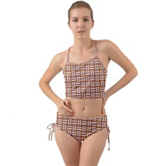 WOVEN1 WHITE MARBLE & RUSTED METAL Mini Tank Bikini Set