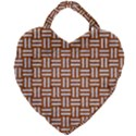 WOVEN1 WHITE MARBLE & RUSTED METAL Giant Heart Shaped Tote View2