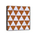 TRIANGLE3 WHITE MARBLE & RUSTED METAL Mini Canvas 4  x 4  View1