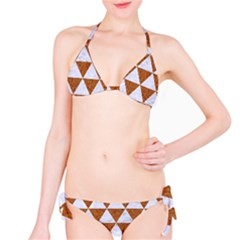 Triangle3 White Marble & Rusted Metal Bikini Set by trendistuff
