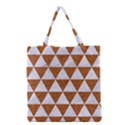 TRIANGLE3 WHITE MARBLE & RUSTED METAL Grocery Tote Bag View1
