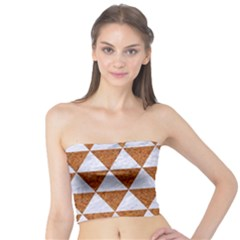 Triangle3 White Marble & Rusted Metal Tube Top by trendistuff
