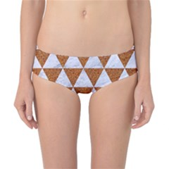 Triangle3 White Marble & Rusted Metal Classic Bikini Bottoms by trendistuff
