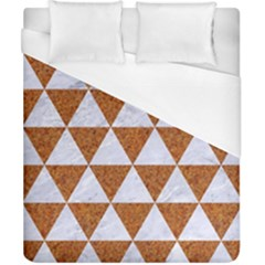 Triangle3 White Marble & Rusted Metal Duvet Cover (california King Size) by trendistuff