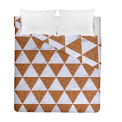 Triangle3 White Marble & Rusted Metal Duvet Cover Double Side (full/ Double Size) by trendistuff