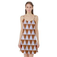 Triangle3 White Marble & Rusted Metal Satin Night Slip by trendistuff