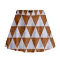 TRIANGLE3 WHITE MARBLE & RUSTED METAL Mini Flare Skirt View1