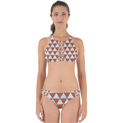 Triangle3 White Marble & Rusted Metal Perfectly Cut Out Bikini Set