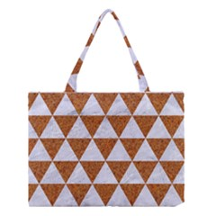 Triangle3 White Marble & Rusted Metal Medium Tote Bag