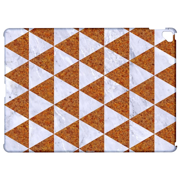 TRIANGLE3 WHITE MARBLE & RUSTED METAL Apple iPad Pro 12.9   Hardshell Case