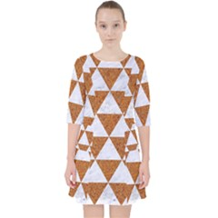 Triangle3 White Marble & Rusted Metal Pocket Dress by trendistuff