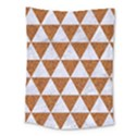 TRIANGLE3 WHITE MARBLE & RUSTED METAL Medium Tapestry View1