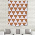 TRIANGLE3 WHITE MARBLE & RUSTED METAL Medium Tapestry View2