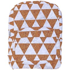 Triangle3 White Marble & Rusted Metal Full Print Backpack by trendistuff