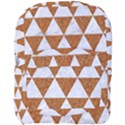 TRIANGLE3 WHITE MARBLE & RUSTED METAL Full Print Backpack View1