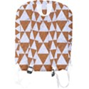 TRIANGLE3 WHITE MARBLE & RUSTED METAL Full Print Backpack View2