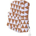 TRIANGLE3 WHITE MARBLE & RUSTED METAL Full Print Backpack View3