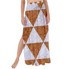 Triangle3 White Marble & Rusted Metal Maxi Chiffon Tie Up Sarong by trendistuff