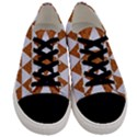 TRIANGLE3 WHITE MARBLE & RUSTED METAL Men s Low Top Canvas Sneakers View1