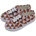 TRIANGLE3 WHITE MARBLE & RUSTED METAL Kids  Classic Low Top Sneakers View2