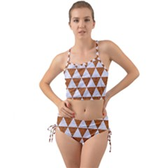 Triangle3 White Marble & Rusted Metal Mini Tank Bikini Set by trendistuff