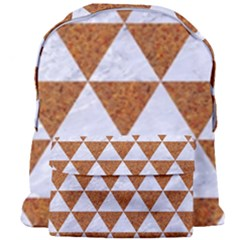 Triangle3 White Marble & Rusted Metal Giant Full Print Backpack by trendistuff