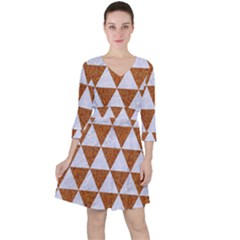 Triangle3 White Marble & Rusted Metal Ruffle Dress by trendistuff