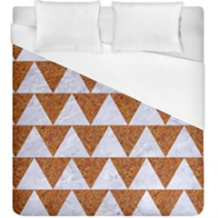 Triangle2 White Marble & Rusted Metal Duvet Cover (king Size) by trendistuff