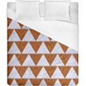 TRIANGLE2 WHITE MARBLE & RUSTED METAL Duvet Cover (California King Size) View1