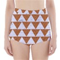 TRIANGLE2 WHITE MARBLE & RUSTED METAL High-Waisted Bikini Bottoms View1