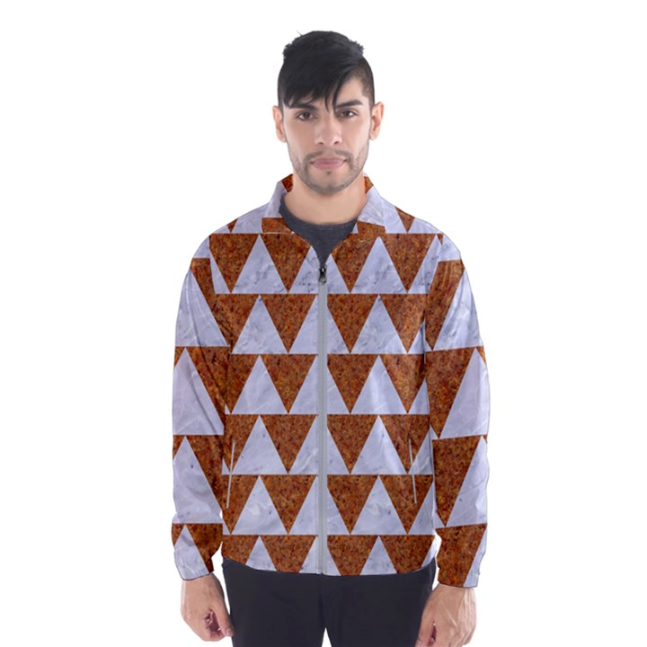 TRIANGLE2 WHITE MARBLE & RUSTED METAL Wind Breaker (Men)