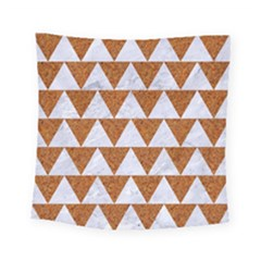 Triangle2 White Marble & Rusted Metal Square Tapestry (small) by trendistuff