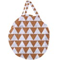 TRIANGLE2 WHITE MARBLE & RUSTED METAL Giant Round Zipper Tote View1