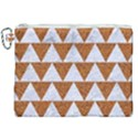 TRIANGLE2 WHITE MARBLE & RUSTED METAL Canvas Cosmetic Bag (XXL) View1