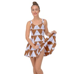 Triangle2 White Marble & Rusted Metal Inside Out Dress