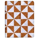 TRIANGLE1 WHITE MARBLE & RUSTED METAL Apple iPad Mini Flip Case View1