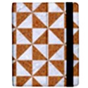 TRIANGLE1 WHITE MARBLE & RUSTED METAL Apple iPad Mini Flip Case View2