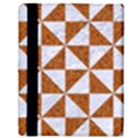 TRIANGLE1 WHITE MARBLE & RUSTED METAL Apple iPad Mini Flip Case View3