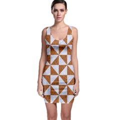 Triangle1 White Marble & Rusted Metal Bodycon Dress by trendistuff