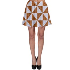Triangle1 White Marble & Rusted Metal Skater Skirt by trendistuff