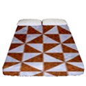 TRIANGLE1 WHITE MARBLE & RUSTED METAL Fitted Sheet (King Size) View1