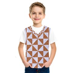 Triangle1 White Marble & Rusted Metal Kids  Sportswear by trendistuff