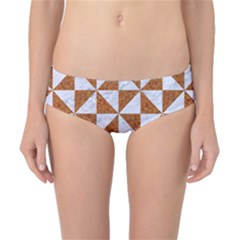 Triangle1 White Marble & Rusted Metal Classic Bikini Bottoms by trendistuff