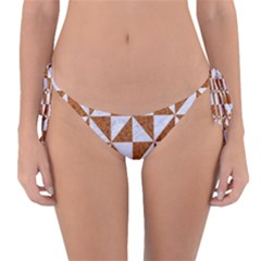 Triangle1 White Marble & Rusted Metal Reversible Bikini Bottom by trendistuff