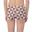 TRIANGLE1 WHITE MARBLE & RUSTED METAL Reversible Boyleg Bikini Bottoms View2