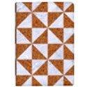 TRIANGLE1 WHITE MARBLE & RUSTED METAL Apple iPad Pro 12.9   Flip Case View1